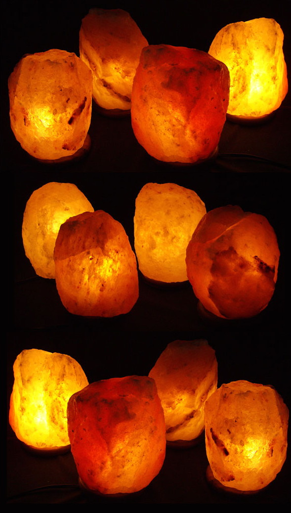 12 4 5lb Natural Himalayan Salt Crystal Lamps  Gift/Office Package