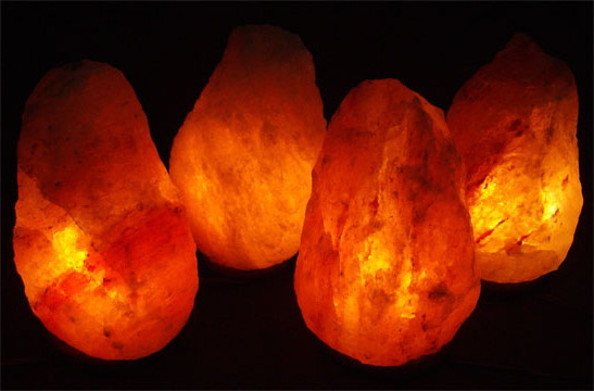 Four 15-20 lb. Salt Lamps Pack