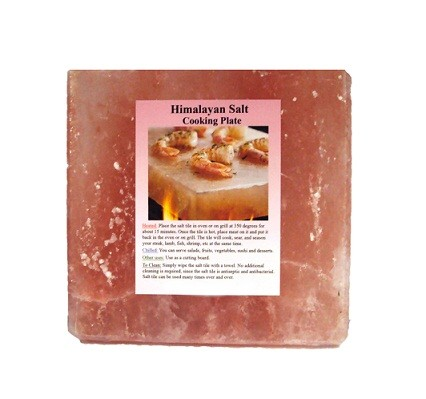 "Set Of 6 - 6"" X 6"" X 1"" Himalayan Salt Plate"