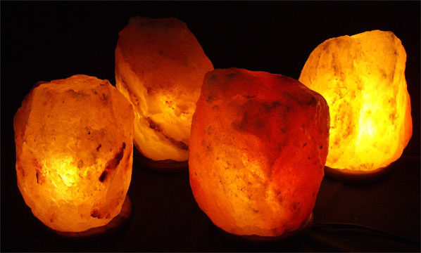 Four 9-11 lb. Salt Lamps Pack