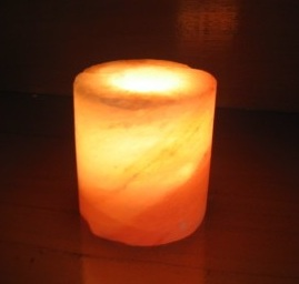 Hand Carved Himalayan Salt Pillar Candle Holder