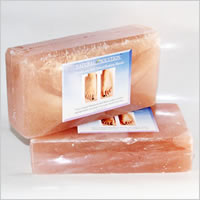 Himalayan Salt Crystal Foot Detoxification Blocks- 1 Pair