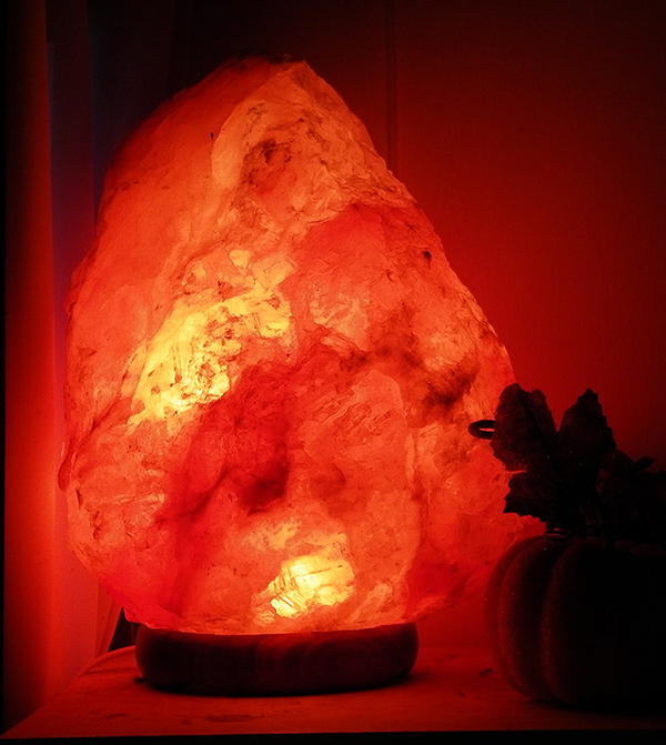 Natural Himalayan Salt Crystal Lamp - 11-14lbs
