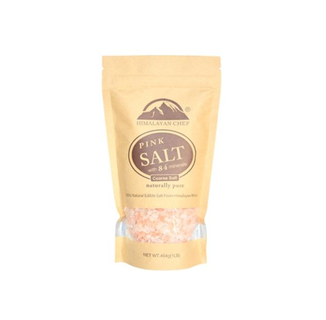 Glass Himalayan Salt Grinder w/ 1lb Refill Bag Coarse Himalayan Salt