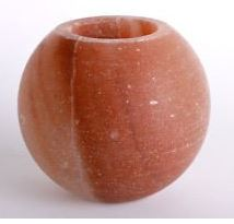 Himalayan Salt Globe Tealight Candle Holder