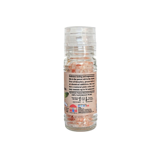 Glass Grinder w/ Course Himalayan Pink Culinary Sea Salt