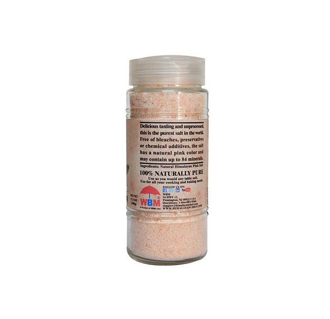 Glass Jar Himalayan Pink Sea Salt - Fine (17.5 oz )