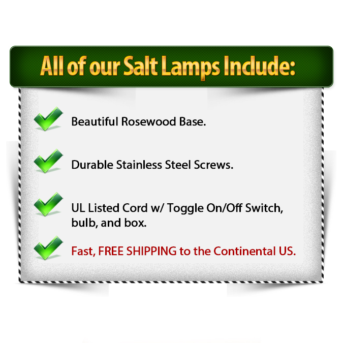Salt Lamp Includes