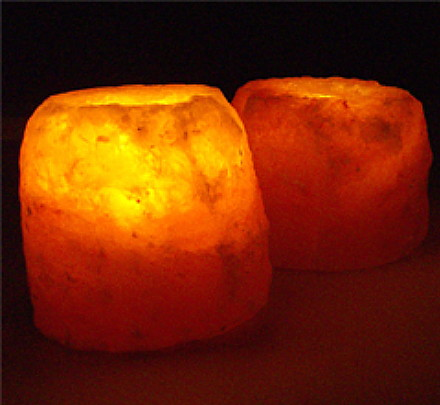 Himalayan Salt Crystal Candle Holders- Inspirational Lighting