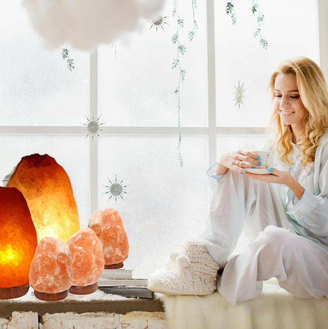 Himalayan Salt Lamps Set