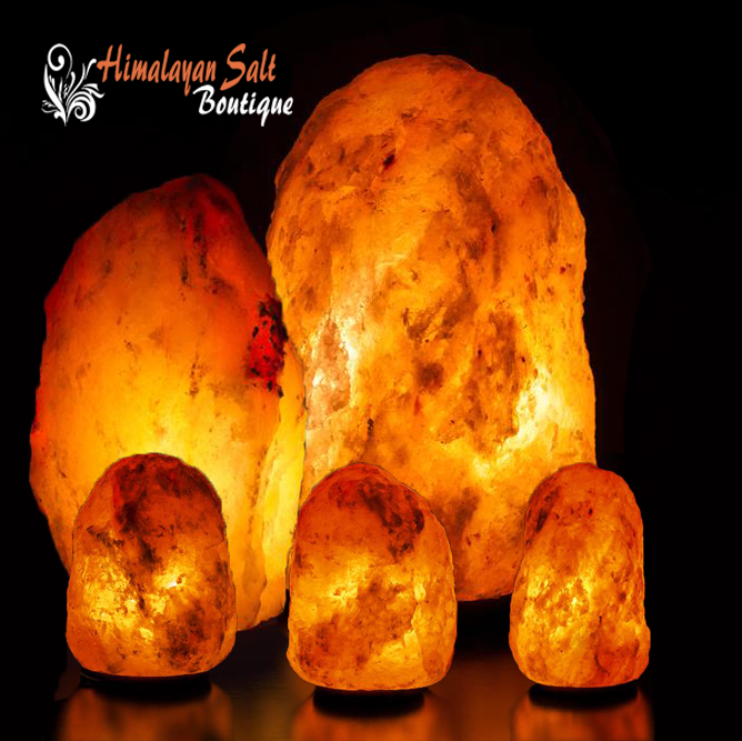 Himalayan Salt Lamps Family Set Home Design Decor
